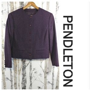 PENDLETON 1950's wool crop jacket